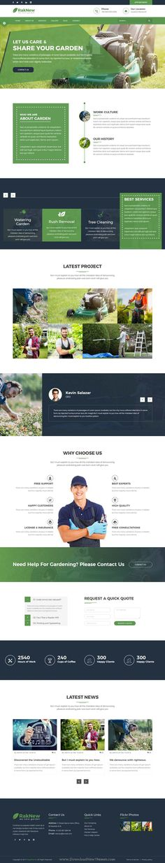 RakNew is clean and modern design 2in1 responsive #bootstrap template for #gardener and #landscape services website download now..