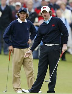 Rickie Fowler and Rory McIlroy at the 2007 Walker Cup