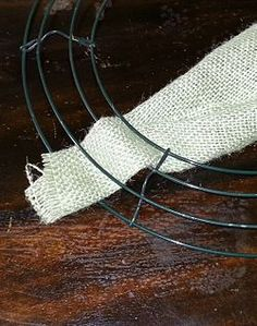 Make a Burlap Wreath - wikiHow.....might need to learn how since I'm making burlap pillows for my new patio bench.