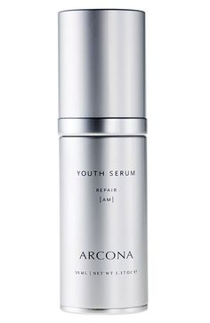 ARCONA Youth Serum: helps prevent photo-aging, fine lines and loss of elasticity and repairs age damage, resulting in more luminous, firmer, younger-looking skin. Defend against free radicals, firm and tone skin with resveratrol and grapeseed extracts. Clarify skin, improve pigmentation issues and broken capillaries, lighten and brighten tone and texture.
