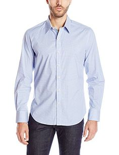 Robert Graham Men's X Marks the Spot Long Sleeve Button-Down Shirt, Purple, Large Men's Fashion >>> Read more  at the image link.