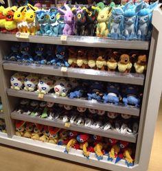 Pokemon Photos from Tokyo - Espeon Umbreon Leafeon Glaceon Eevee Vaporeon Jolteon Flareon plush dolls