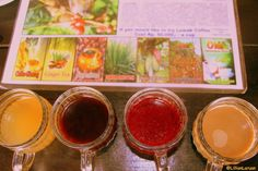 Can you identify the different drinks here?  #organic #Oka #Agriculture #Bali