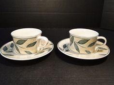 Mikasa Intaglio Natures Song Cup Mug Saucer Set CAA06 TWO MINT! #Mikasa
