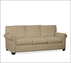 We included this couch on our wedding registry at Pottery Barn.
