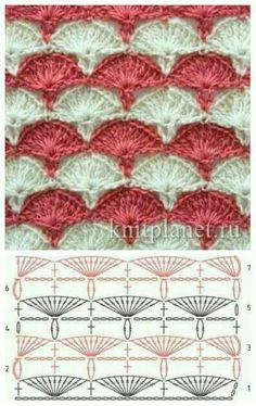 Crochet Blanket Pattern Diagram Charts Ideas – Awesome Knitting Ideas and Newest Knitting Models Crochet Shell Stitch, Crochet Motifs, Crochet Diagram, Crochet Stitches Patterns, Crochet Chart, Crochet Squares, Crochet Designs, Free Crochet, Stitch Patterns