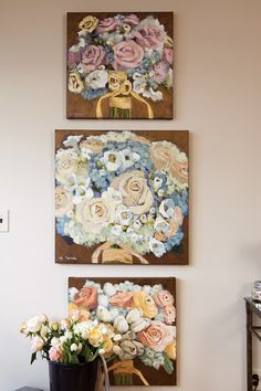 Paint and Palette with Melanie Morris This is a great idea for the memories of your wedding in which you cannot keep that bouquet thriving! Not to mention the tradition of throwing it behind you to the most athletic.