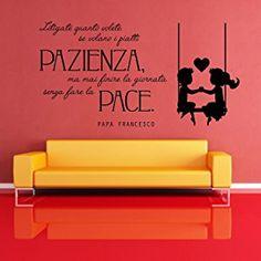 Adesiviamo 1221-M Papa Francesco Fate la Pace Wall Sticker Adesivo da Muro