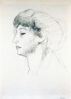 Pablo Picasso - Fernande Olivier 1906 Pablo Picasso Drawings, Art Picasso, Surrealist Photographers, Most Famous Artists, Guernica, Spanish Painters, Post Impressionism, Artist Life, Interesting Faces