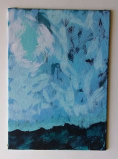 The fullness of the moon captivated her sky and the wind blew a fresh desire from within.  Abstract Acrylic Painting Big Sky by lynndylandesigns on Etsy, $20.00