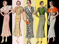 These dresses could be bought at Sears in the 30's ... yes.  I said Sears!