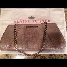 Elaine Turner Lizard Clutch Animal Print Love!