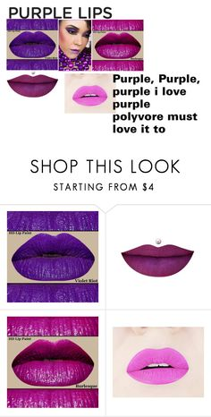 """PURPLE LIPS"" by madi-d-c ❤ liked on Polyvore featuring beauty"