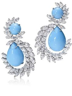 Harry Winston | The Incredibles | Behold The Incredibles | Turquoise Swirl Earrings