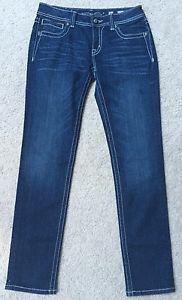 *MISS ME* Women's Skinny Jeans With Rhinestone Bling Cross Size 30 JP504559