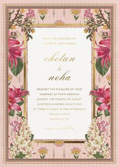 Anita Dongre collaborated with Paperless Post and launched a line of breathtakingly beautiful digital wedding invitations. Indian Wedding Invitation Cards, Wedding Invitation Background, Wedding Invitation Card Design, Creative Wedding Invitations, Indian Wedding Invitations, Wedding Card Templates, Digital Invitations, Wedding Stationery, Engagement Invitations
