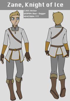 Samzart — Fantasy AU designs! Small facts: Zane tried to...