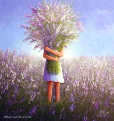 Kai Fine Art is an art website, shows painting and illustration works all over the world. Art Floral, Art Fantaisiste, Art Mignon, Art Of Love, Whimsical Art, Belle Photo, Online Art Gallery, Watercolor Flowers, Cute Art