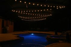 Hanging pool lights