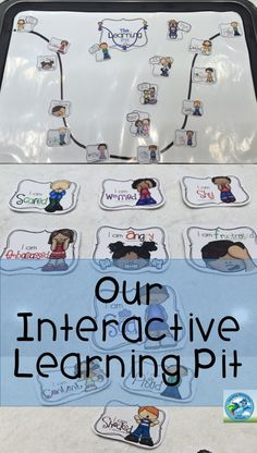 This interactive learning pit will help instill growth mindset with young children. Teachers, use this as an interactive display for your bulletin board or in small group instruction!