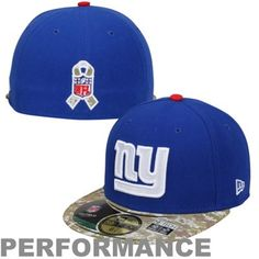 New Era New York Giants Salute To Service On-Field 59FIFTY Fitted Performance Hat - Royal Blue/Digital Camo