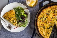 Tofu Frittata with Spinach and Peppers