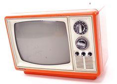 Vintage Television Orange TV Set...