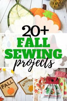 Easy fall sewing projects that help make your home festive for autumn.
