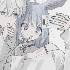 Anime Neko, Kawaii Anime, Anime Guys, Anime Art Girl, Cute Anime Profile Pictures, Matching Profile Pictures, Friend Anime, Anime Best Friends, Tous Les Anime