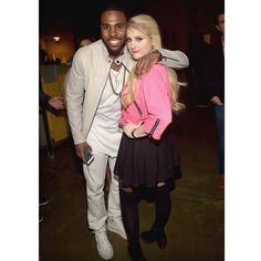 Jason Derulo and Meghan Trainor backstage at iHeartRadio Jingle Ball 2014 Village at BB&T Center on December (Photo: Getty Images for iHeartRadio) Summer Anthems, Ricky Wilson, Cat Valentine Victorious, Ariana Grande Facts, Cyndi Lauper, Star Track, Stylish Couple, Meghan Trainor, Jason Derulo