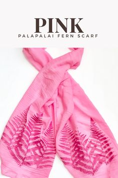 Pretty pink scarf, Palapalai design Pink Scarves, Support Small Business, Botanical Prints, Womens Scarves, Pretty In Pink, Hawaiian, Etsy Seller, Gifts For Her, Baby Shower