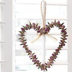 Rosebud Heart Wreath 16cm