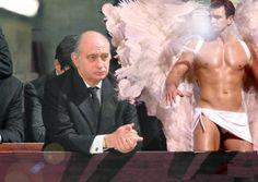 PRIMERAS FOTOS DEL ÁNGEL MARCELO PROTEGIENDO AL MINISTRO DEL INTERIOR