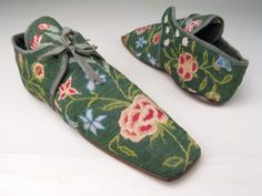 Shoes ca. 1830-1850 via Manchester City Galleries