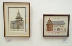 Blackwork - Jean's 'La Chapelle a Chateau Bervret' and Linda's 'Oast House'