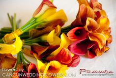 mango calla lily bridal bouquet