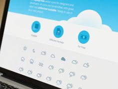 Free Download | Simple Weather Icons