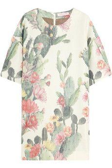 Matthew Williamson Printed slub cotton-blend mini dress | NET-A-PORTER