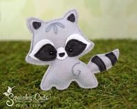 Raccoon Sewing Pattern - Woodland Stuffed Animal Felt Plushie Pattern & Tutorial