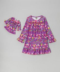 Take a look at this Purple Puppies Nightgown & Doll Outfit - Girls by Dollie & Me on #zulily today!