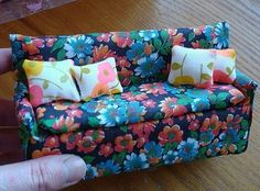 How to: Miniature sofa. Gona make this and a double bed for Rubys Sylvanian families