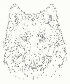 Tableau Leds Loup ( face)