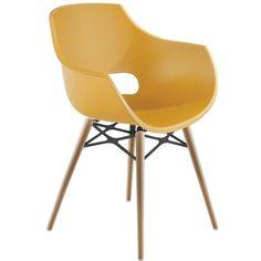 Кресло Opal Wox Бук, Матовый Желтый
