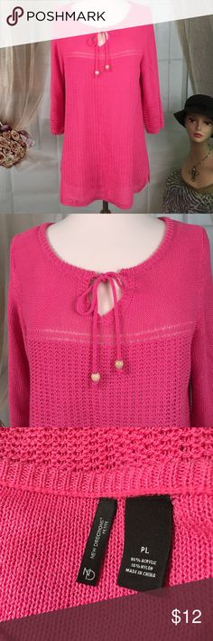 New Directions Pink Sweater Today, featuring in Kaki Jo's closet is this lovely pink sweater.  Would make a great beach coverup. Great condition.  Size PL. new directions Sweaters