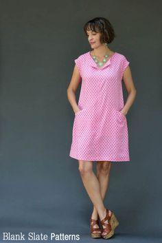 Rayon version - Leralynn Dress - by Blank Slate Patterns - Women's Shift Dress Sewing Pattern