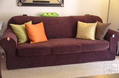 Sample sure fit sofa slipcovers images Faux Leather Couch, Leather Couch Sectional, Sofa Couch, Loveseat Slipcovers, Couch Set, Couch Furniture, Cheap Furniture, Furniture Online, Furniture Design