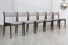 Set of 6 Uldum Møbelfabrik dinner chairs, 1960s