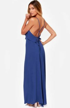 LULUS Exclusive Silent Lagoon Royal Blue Maxi Dress - StudentRate #SRtrending