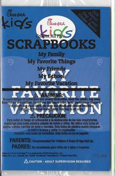 Chick-fil-A SCRAPBOOKS Collect all Five: My Favorite Vacation NEW!
