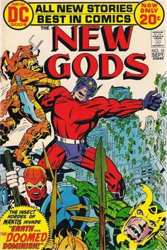 The New Gods (Sep cover by Jack Kirby & Mike Royer. Dc Comic Books, Comic Book Artists, Comic Book Covers, Comic Artist, Thor, Jack Kirby Art, Nostalgia, Fourth World, Comics